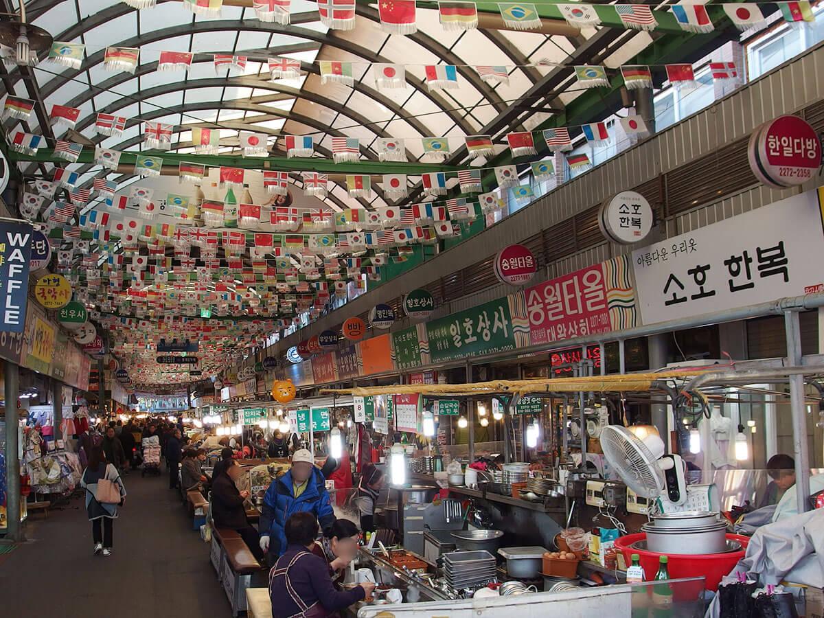 ソウル 東大門近くの広蔵市場