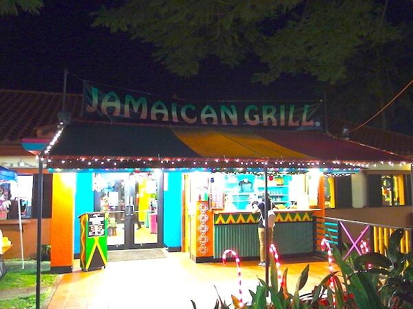 チャモロビレッジ・ナイトマーケットの一角にジャマイカン・グリルはあります