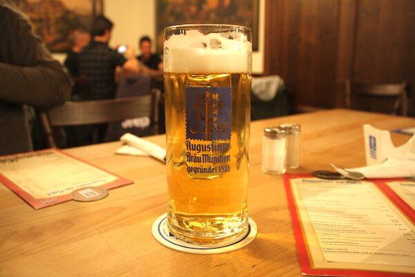 アウグスティナー アムプラッツル(Augustiner am Platzl)で飲んだビール