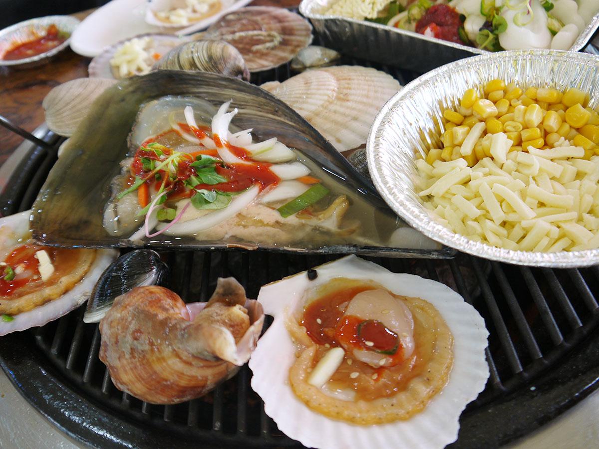 大人女子旅 韓国 仁川でファンシネチョゲグイ貝焼き