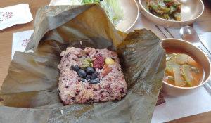 韓国扶余(プヨ)でしか食べられない!「ソルレウム」の蓮の葉韓定食