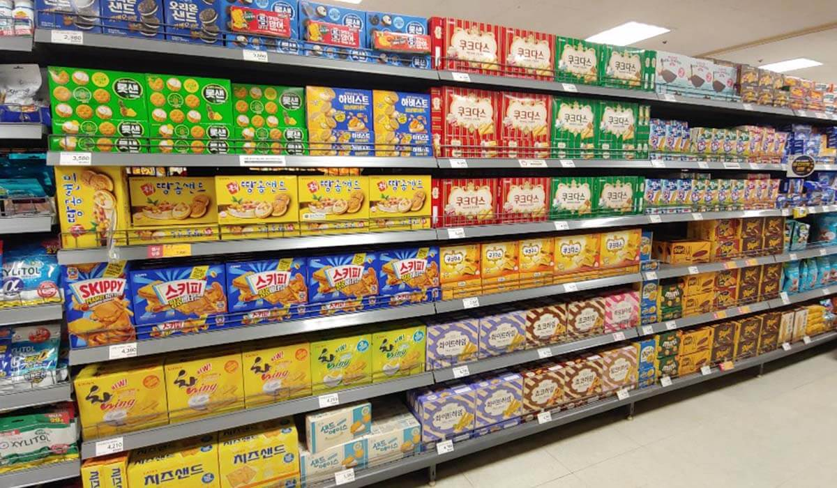 韓国大手スーパー「Eマート」でお土産を買う