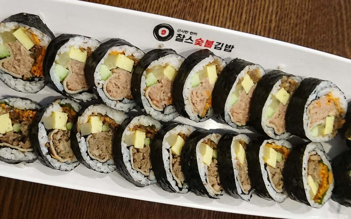 食べ応え満点!韓国の「チャルススップルキンパッ」で大満足のランチ♪